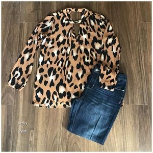 Peach Love California Nordstrom Leopard Print Top